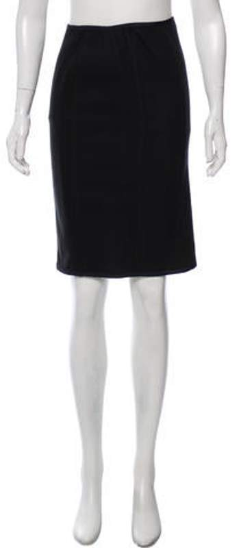 Narciso Rodriguez Woven Knee-Length Skirt Black Woven Knee-Length Skirt