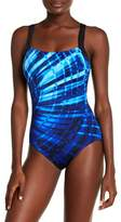 Reebok Laser Focus Print One-Piece Swimsuit