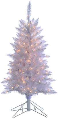 Tiffany & Co. Sterling Tree Company 4Ft White Tinsel Tree