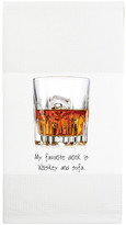 "Mariasch Studios ""My Favorite Drink Is Whiskey and Sofa\"" Waffle Towel"