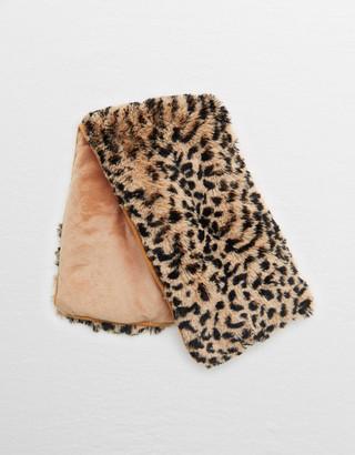 aerie Warmies Leopard Neck Wrap
