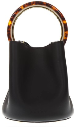 Marni Pannier Mini Black Leather Bag