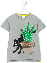 Fendi cat print T-shirt