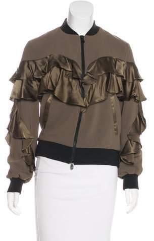 Cinq à Sept Ruffle-Accented Evening Jacket
