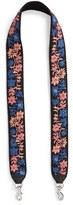 Rebecca Minkoff Floral Embroidered Guitar Bag Strap - Blue
