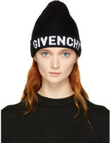 Givenchy Black and White Logo Beanie