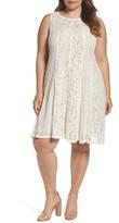 Gabby Skye Plus Size Women's Lace Trapeze Dress