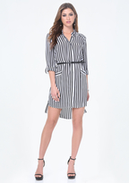 Bebe Ashley Striped Shirtdress