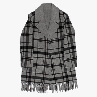 Oakwood Fabienne Grey Reversible Fringed Coat
