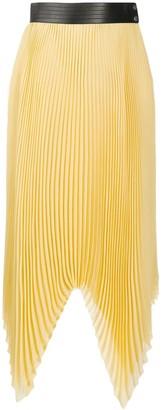 Loewe Zigzag-Hem Pleated Skirt
