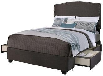 Republic Design House Newport Upholstered Platform Storage Bed, Grey, Eastern King