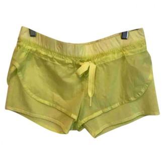 Stella Mccartney Pour Adidas Yellow Synthetic Shorts