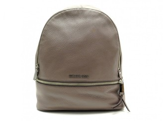 Michael Kors Rhea Grey Leather Backpacks