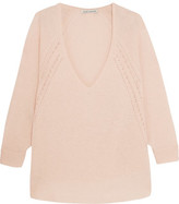 Autumn Cashmere Pointelle-Trimmed Cashmere Sweater