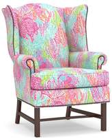 Pottery Barn Lilly Pulitzer Thatcher Upholstered Wingback Chair