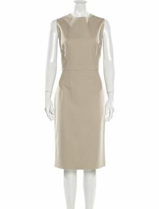 Dolce & Gabbana Crew Neck Midi Length Dress