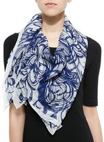 Anna Coroneo Wooster Printed Silk Square Scarf