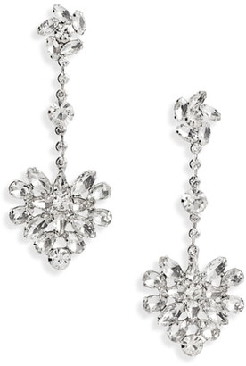 CRISTABELLE Crystal Floral Cluster Drop Earrings