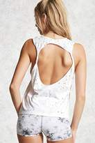 Forever 21 Active Distressed Twist Tank