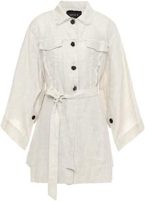 Kitx Belted Frayed Linen Jacket