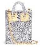 Sophie Hulme 'Compton' inset glitter Perspex crossbody bag