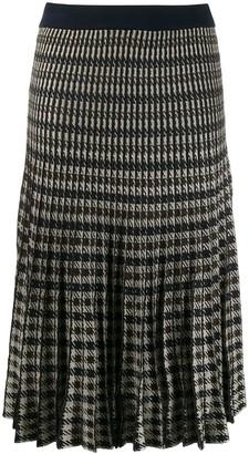 Baum und Pferdgarten Check Print Pleated Skirt