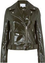 Warehouse Patent Faux Leather Biker