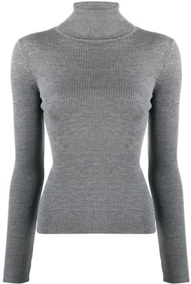 Pinko Ribbed-Knit Roll-Neck Jumper