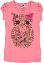 """Beautees Little Girls' """"Glitter Owl"""" T-Shirt"""