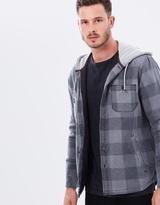 Quiksilver Mens Mil Ton Long Sleeve Hooded Shirt