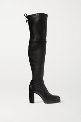 Stuart Weitzman Zoella Leather Over-the-knee Boots - Black