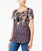 Style&Co. Style & Co Petite Floral Paisley-Print Top, Created for Macy's
