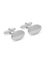 Oxford Cufflinks Silver Oval