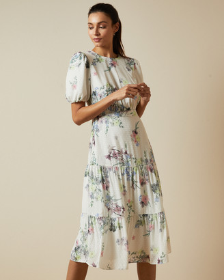 Ted Baker GROVE Pergola puff sleeved midi dress