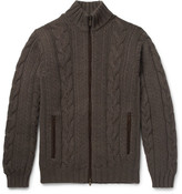 Thom Sweeney - Cable-knit Cashmere Zip-up Sweater - Brown