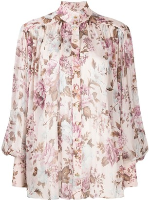 Zimmermann Charm Lantern floral-print blouse