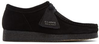 Clarks Black Suede Wallabee Moccasins