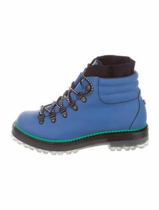 Montelliana Marlena Leather Combat Boots Black