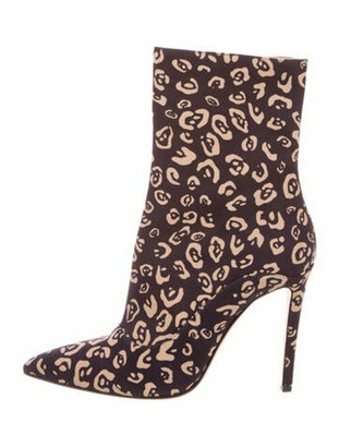 Altuzarra Animal Print Pointed-Toe Boots Black