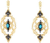 Armenta Two-Tone Turquoise, Moonstone & Diamond Old World Earrings