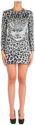 Alberta Ferretti Animal Print Mini Dress