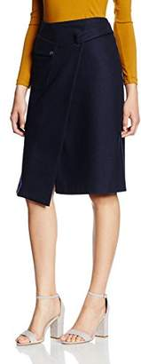 Filippa K Women's Wrap Pocket Wool Plain Skirt,(Manufacturer Size:Medium)