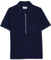 Frame Wool And Cashmere-blend Polo Shirt - Navy