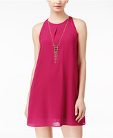 Amy Byer Juniors' Necklace Shift Dress