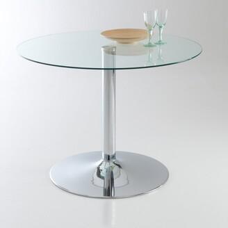 La Redoute Interieurs JANIK Round Glass & Metal Table (Seats 4)