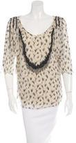 3.1 Phillip Lim Bead Embellished Silk Blouse