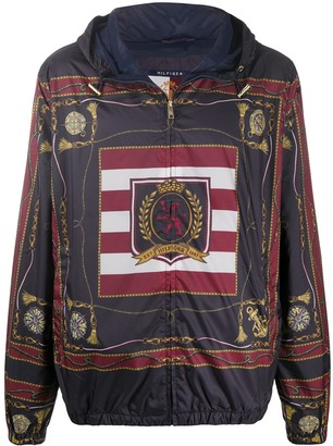 Tommy Hilfiger Foulard print hooded jacket