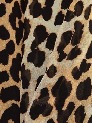 Ganni Printed Georgette Midi Skirt