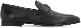 Salvatore Ferragamo Silas Leather Loafers W/Logo Detail