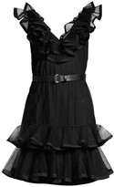 MICHAEL Michael Kors Pin Dots Tulle Mixed Dress